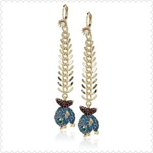 Betsey Johnson Fish Drop Earrings